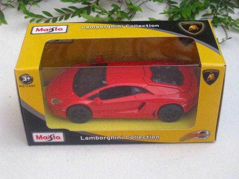 Maisto Motorized (11cm) Diecast Car Lamborghini Aventador LP 700-4 (Red/Orange)
