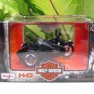 Maisto 1/18 Diecast Harley- Davidson 1948 FL Panhead Black (Sidecar) 11cm