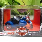 Maisto 1/18 Diecast Harley- Davidson 1952 FL HYDRA GLIDE Blue (Sidecar)11cm