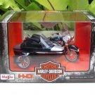 Maisto 1/18 Diecast Harley Davidson 2001 FLHRD ROAD KING CLASSIC Black (Sidecar)