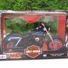 Maisto 1/12 Diecast Harley Davidson 2004 DYNA SUPER GLDE SPORT (Blue) 17cm