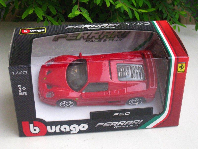 Bburago 1/43 Ferrari Diecast Car Model Ferrari F50 (Red) 10cm