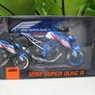 Automaxx 1/12 Diecast Motorcycle KTM 1290 Super Duke R 2014 Patriot Edition Blue
