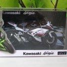 Automaxx 1/12 Diecast Motorcycle Kawasaki Ninja 250 White Sportbike 2014