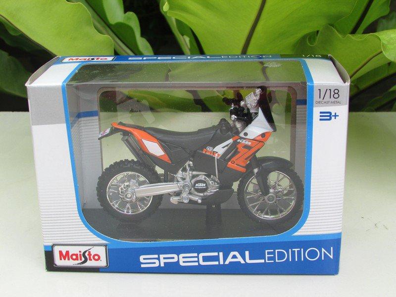 Maisto 1/18 Special Edition Diecast Motorcycle KTM 450 Rally Bike (Orange) 2014
