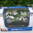Maisto 1/18 Special Edition Diecast Motorcycle Kawasaki KLX 250SR #123 Motocross