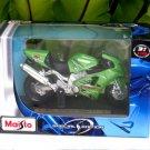 Maisto 1/18 Special Edition Diecast Motorcycle Kawasaki Ninja ZX 12R Green 2001