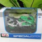 Maisto 1/18 Special Edition Diecast Motorcycle Kawasaki Ninja ZX 9R Green 2001
