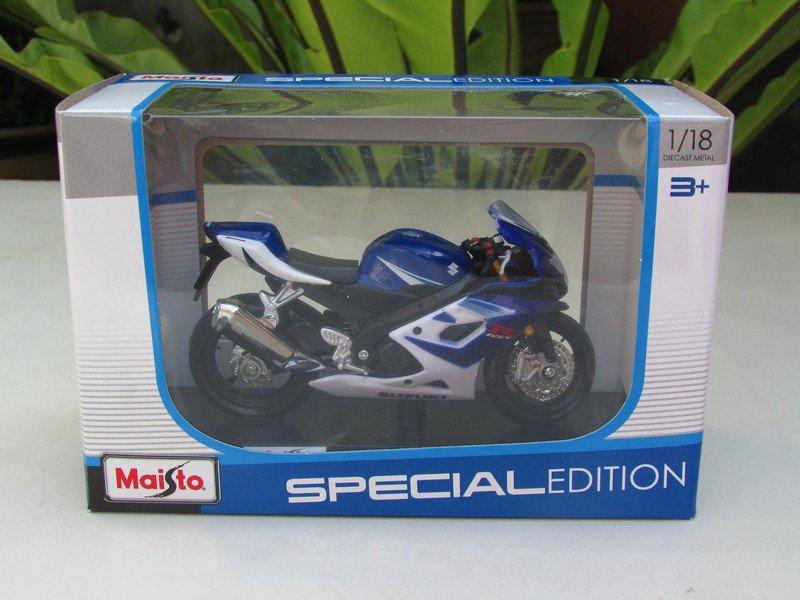 Maisto 1/18 Special Edition Diecast Motorcycle Suzuki GSX-R1000 (Blue) 2006