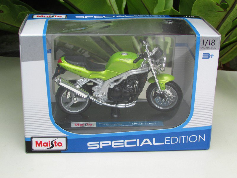 Maisto 1/18 Special Edition Diecast Motorcycle Triumph Speed Triple T509(Green)