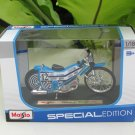 Maisto 1/18 Special Edition Diecast Motorcycle Speedway Motorcycle #12 (Blue)