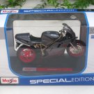 Maisto 1/18 Special Edition Diecast Motorcycle Ducati 748 (Grey) Sport Bike