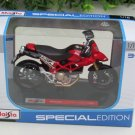 Maisto 1/18 Special Edition Diecast Motorcycle Ducati Hypermotard 1100S 2009 (Red)