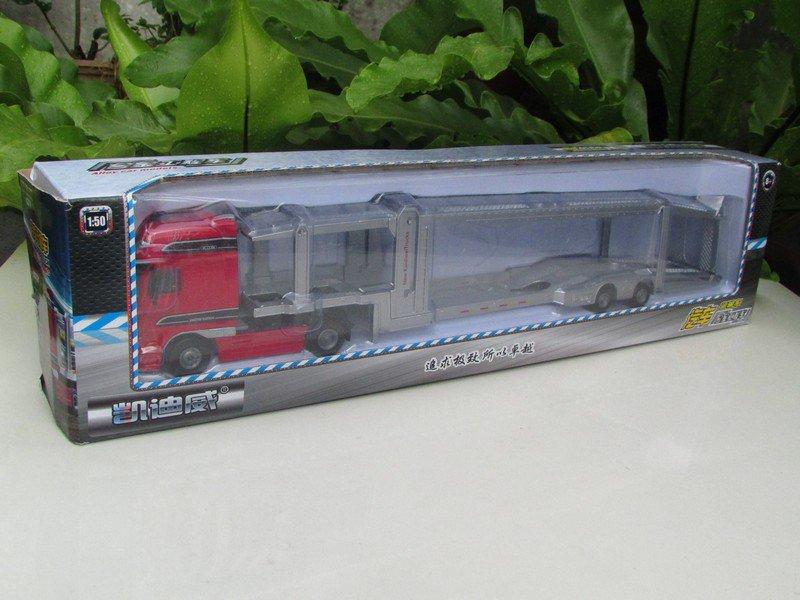 Kaidiwei 1/50 Diecast Car Auto Transport Truck Red (40cm)