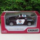 "Kinsmart (5"") Die cast POLICE NISSAN GTR Nismo Police R35 Car Black"