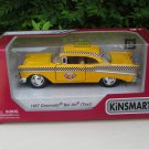 "Kinsmart (5"")Die cast TAXI 1957 Chevrolet Bel Air Chevy Yellow Taxi Classics Car"