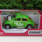 "Kinsmart (5"") Die cast Volkswagen VW Beetle Muscle Drag Racer Custom Car Green"
