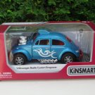 "Kinsmart (5"") Die cast Volkswagen VW Beetle Muscle Drag Racer Custom Car Blue"