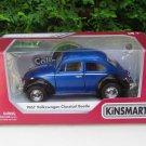 "Kinsmart (5"") Die cast 1967 VW Volkswagen Classical Beetle Blue Classical Car"