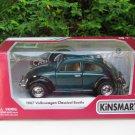 "Kinsmart (5"") Die cast 1967 VW Volkswagen Classical Beetle Green Classical Car"