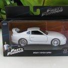 Jada 1-32 Fast & Furious Series - Brian's 1995 Toyota Supra White Supra MK IV