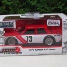JADA 1/32 Diecast Car JDM Tuners 1973 Datsun 510 # 73 Red