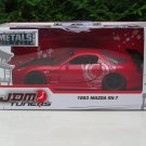 JADA 1/32 Diecast Car JDM Tuners 1993 MAZDA RX-7 Red