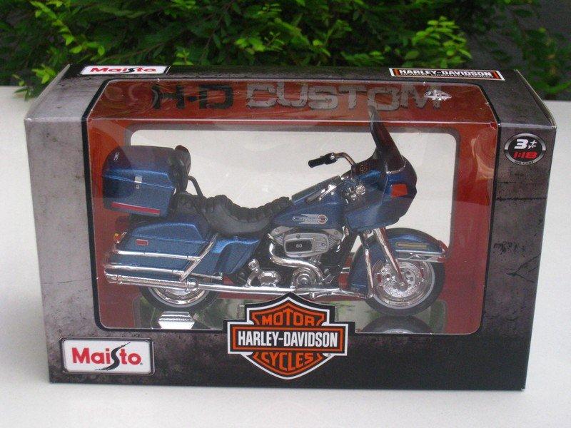 Maisto 1/18 Diecast Harley- Davidson 1980 FLT Tour Glide Blue # 31