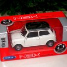 Welly NEX (11cm)Die cast Car Mini Cooper 1300 (White with Black Top)Classics Car
