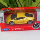 Welly NEX (11cm) Diecast Car Lamborghini Huracan LP 610-4 Yellow 2015 Sports Car