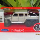Welly NEX 1/34-1/39 Die cast Car Mercedes-Benz G 63 AMG 6x6 SUV Truck (Gold)