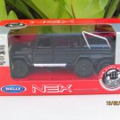 Welly NEX 1/34-1/39 Die cast Car Mercedes-Benz G 63 AMG 6x6 SUV Truck (Black)
