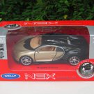 Welly NEX (11cm) Die cast Car BUGATTI CHIRON Gold Black