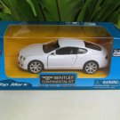 "Top Mark (5"") 1/34  Diecast  Model Car 2015  Bentley Continental GT (White)"