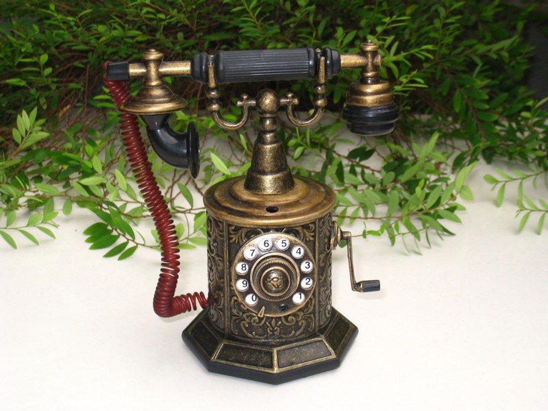 Table Lighter - Antique Telephone Model TP - 1802 BRONZE (13cm)