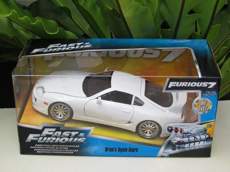 Jada 1-24 Fast & Furious Series - Brian's 1995 Toyota Supra MK IV White