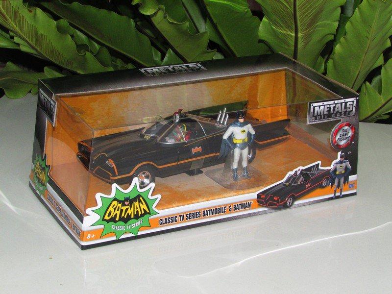 JADA 1/24 Diecast Movie Car DC Comics Batmobile & Batman Classic TV Series 1966