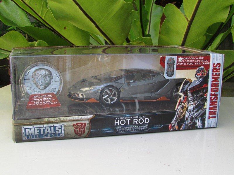 JADA 1/24 Movie Car TRANSFORMERS 5 HOT ROD Lamborghini Centenario LP770 Grey