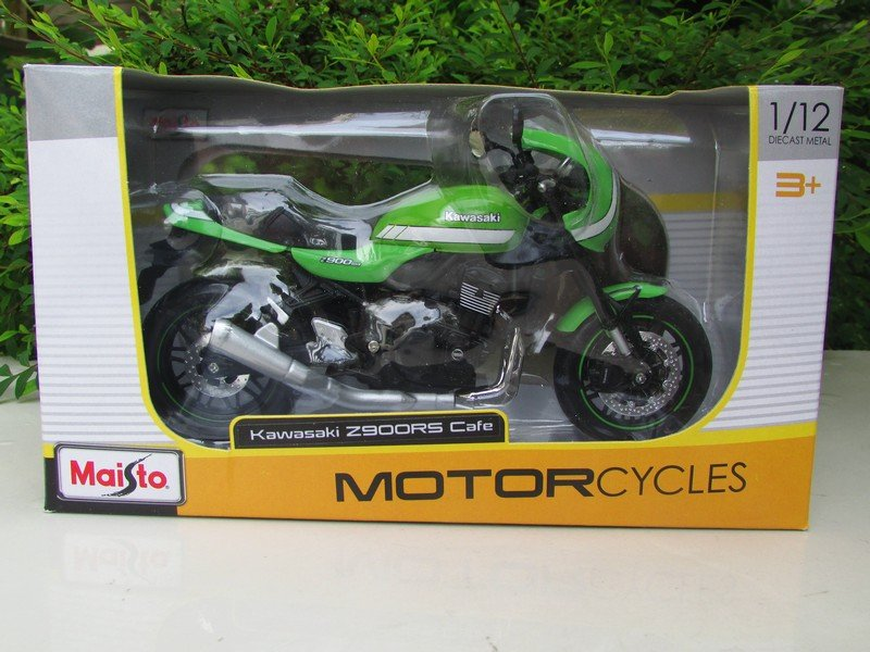 Maisto 1/12 Diecast Motorcycle Kawasaki Z900RS Cafe 2018 Green