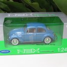 Welly 1/24 Diecast Car VW Volkswagen Beetle Hardtop (Blue) Classics Car