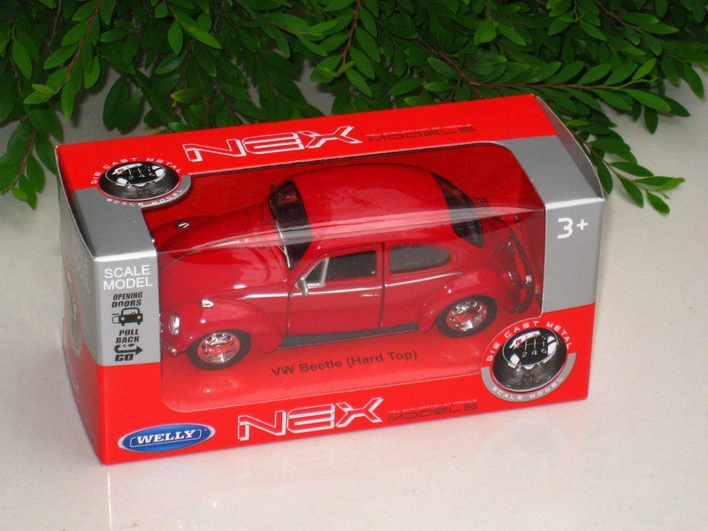 Welly NEX (11cm)Diecast Car VW Volkswagen Beetle (Hard top)1967 Classics Car Red