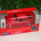 Welly NEX (11cm)Diecast Car VW Volkswagen Beetle (Hard top)1967 Classics Car Red