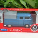 Welly NEX (11cm)Diecast Car VW Volkswagen T1 Double Cabin Pick Up Classics Blue