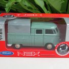 Welly NEX (11cm)Diecast Car VW Volkswagen T1 Double Cabin Pick Up Classics Green