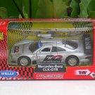 Welly (11cm) Diecast Car Mercedes Benz CLK-GTR Warsteliner D2 Silver (1/38)