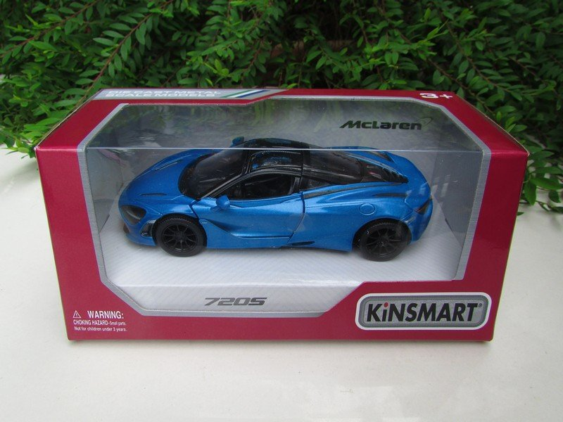 "Kinsmart (5"") Die cast Car MCLAREN 720S (1/36) 2017 Blue Super Car"