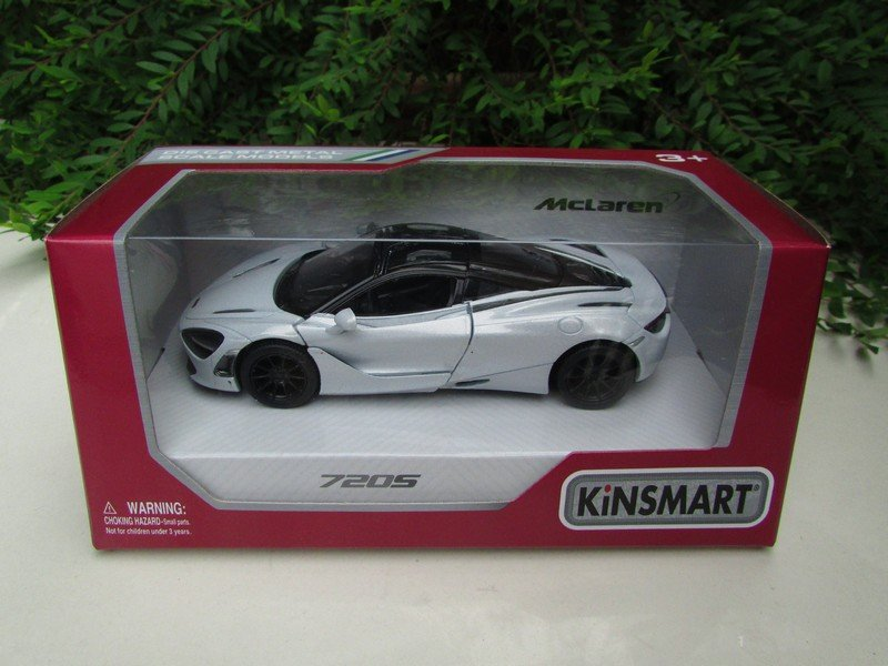 "Kinsmart (5"") Die cast Car MCLAREN 720S (1/36) 2017 White Super Car"