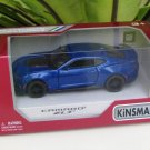 "Kinsmart (5"") Die cast  Car 2017 Chevrolet Camaro ZL1 Blue Super Car (1/38)"
