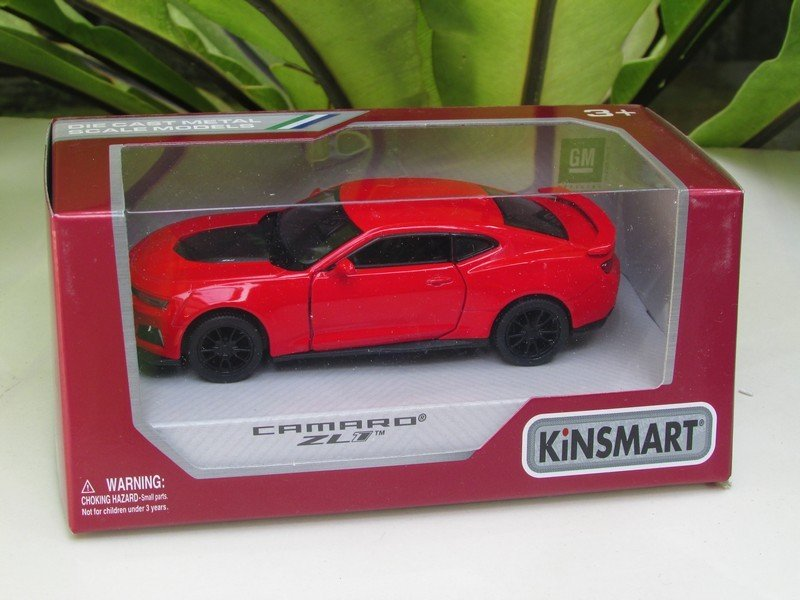 """Kinsmart (5"""") Die cast  Car 2017 Chevrolet Camaro ZL1 Red Super Car (1/38)"""