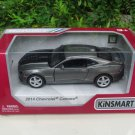 "Kinsmart (5"") Die cast  Car 2014 Chevrolet Camaro w/ printing Gray Sports Car (1/38)"